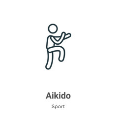 Aikido outline icon thin line black icon vector