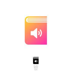 Audio book online logo open book sound symbol vector