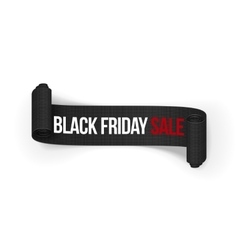 Black Friday Sale realistic rolled Ribbon vector image