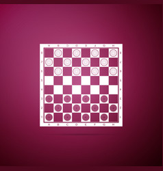 board game of checkers icon on purple background vector image