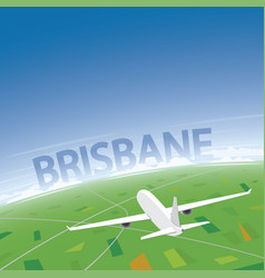 Brisbane flight destination vector