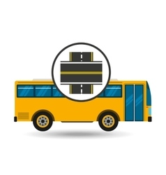 Bus transport public intersections road vector