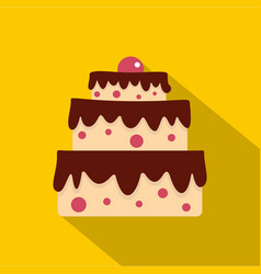 cake icon flat style vector image