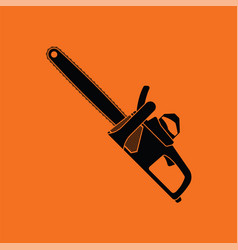 Chain saw icon vector