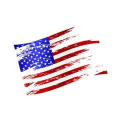 color american national flag grunge style eps10 vector image
