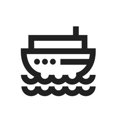 concept of boat ship icon vector image