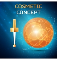 Cosmetic concept icon vector