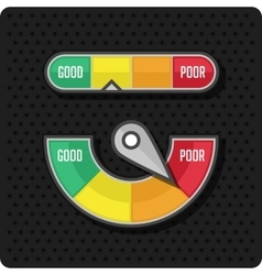 Credit meter on a black background vector