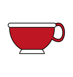 cup red flat vector image