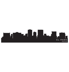 el paso texas skyline detailed silhouette vector image vector image
