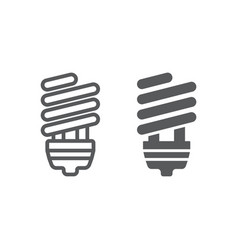 Energy saving line and glyph icon ecology lamp vector