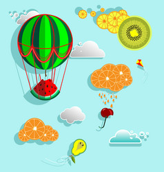 Fairy fruit world vector
