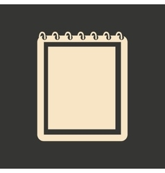 Flat in black and white mobile application notepad vector