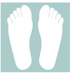footprint heel the white color icon vector image