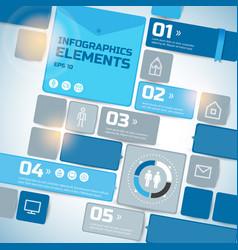 geometric business infographics vector image
