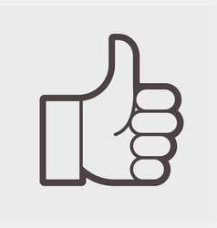 Gesture of admiration hend thumb up vector
