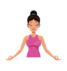 girl and yoga design vector image