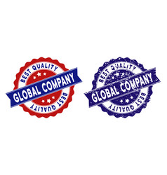 Global company best quality stamp with dirty style vector