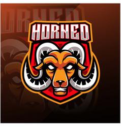 Goat head esport mascot logo vector