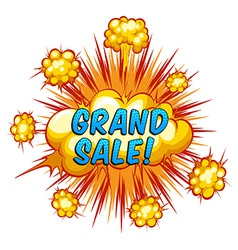 Grand sale vector image