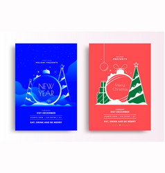 Happy new year 2020 greeting card design template vector