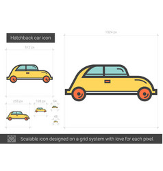 hatchback car line icon vector image