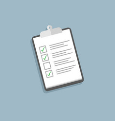 holding clipboard checklist flat style vector image