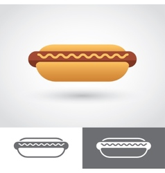 Hot Dog icon vector image