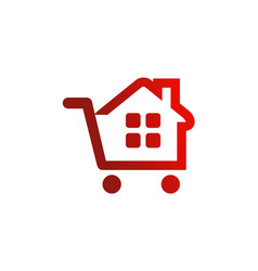 house sold realty logo vector image