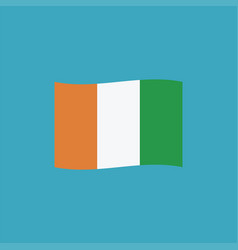 ivory coast flag icon in flat design vector image