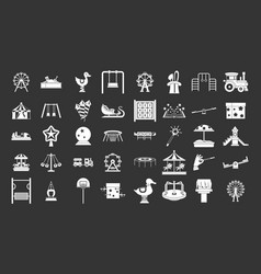 kid amusement icon set grey vector image