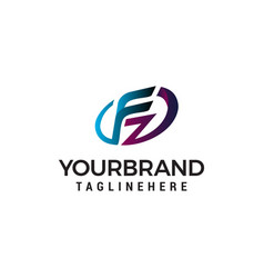 letter fz logo design concept template vector image