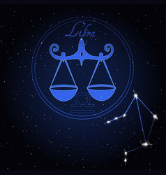 libra astrology constellation of the zodiac vector image