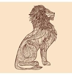 Lion Sketch vector image
