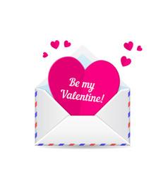 love mail valentine heart vector image