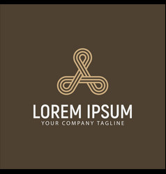 luxury modern letter a logo design concept vector image