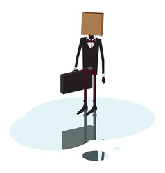 man with no face on white background vector image