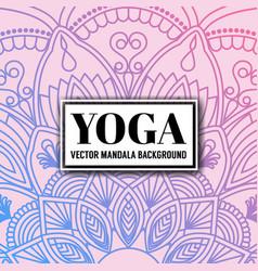 Mandala decorative and ornamental design vector