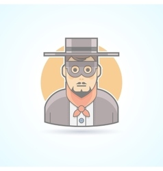 Maskman incognito anonymous mysterious icon vector