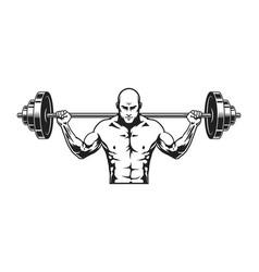 Monochrome strong man icon template vector
