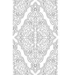 Oriental floral pattern vector