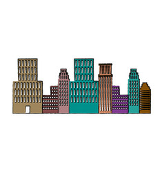 panorama picture of city skyline architecture vector image