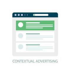 Pay per click icon contextual advertising - ppc vector