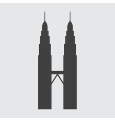 Petronas Tower icon vector image