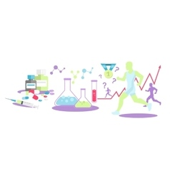 Pharmacology in Sport Icon Flat Isolated vector image