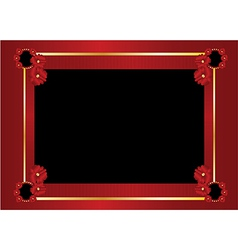 Red gold black frame background vector