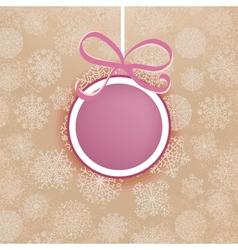 Retro Christmas card EPS8 vector image