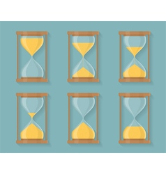Sandglass icons vector