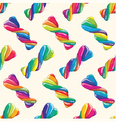 seamless pattern twisted lollies vector image