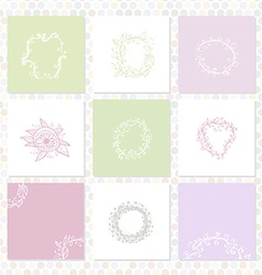 Set of square cards sketch frames hand-drawn vector